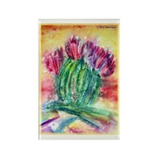 Bright, cactus art Rectangle Magnet