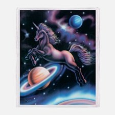 Celestial Unicorn Throw Blanket