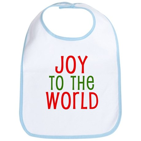 Joy to the World Red & Green Bib