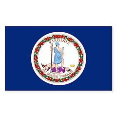 Virginia Flag Sticker (Rectangle 10 pk)