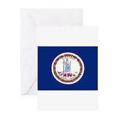 Virginia Flag Greeting Card