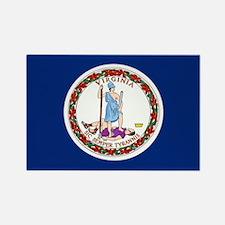 Virginia Flag Rectangle Magnet