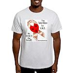 Tabby Ribbon Ash Grey T-Shirt