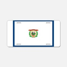 West Virginia Flag Aluminum License Plate