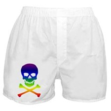 Rainbow Skull and Bones Boxer Shorts