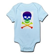Rainbow Skull and Bones Infant Bodysuit