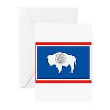 Wyoming Flag Greeting Cards (Pk of 10)