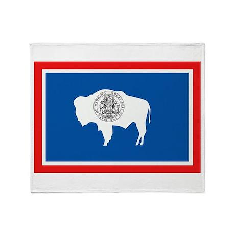 Wyoming Flag Throw Blanket