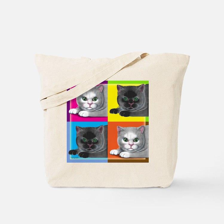 Pop Art Cat Tote Bag