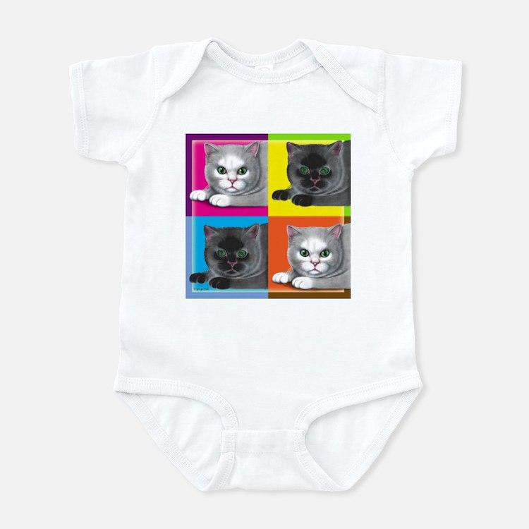 Pop Art Cat Infant Creeper