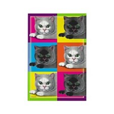 Pop Art Cat Rectangle Magnet