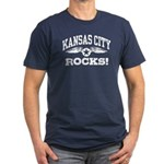 Kansas City Rocks Men's Fitted T-Shirt (dark)