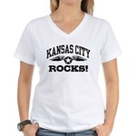 Kansas City Rocks Women's V-Neck T-Shirt