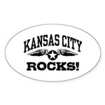 Kansas City Rocks Sticker (Oval)