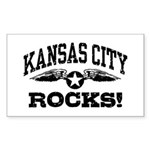 Kansas City Rocks Sticker (Rectangle)
