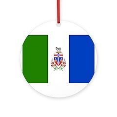 Yukon Territories Flag Ornament (Round)