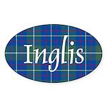 Tartan - Inglis Sticker (Oval 50 pk)