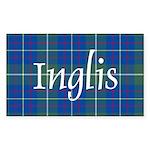 Tartan - Inglis Sticker (Rectangle 50 pk)