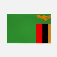 Zambia Flag Rectangle Magnet