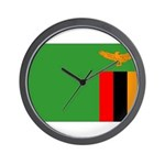 Zambia Flag Wall Clock