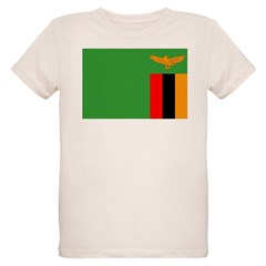 Zambia Flag Organic Kids T-Shirt