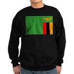 Zambia Flag Sweatshirt (dark)