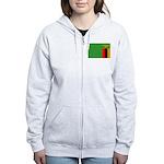 Zambia Flag Women's Zip Hoodie