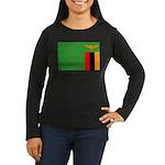 Zambia Flag Women's Long Sleeve Dark T-Shirt