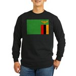 Zambia Flag Long Sleeve Dark T-Shirt