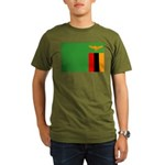 Zambia Flag Organic Men's T-Shirt (dark)