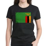 Zambia Flag Women's Dark T-Shirt