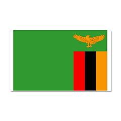 Zambia Flag Car Magnet 20 x 12