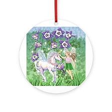 Fairy Unicorn Ornament (Round)