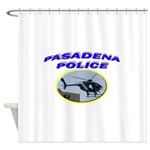 Pasadena Police Helicopter Shower Curtain