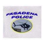 Pasadena Police Helicopter Throw Blanket