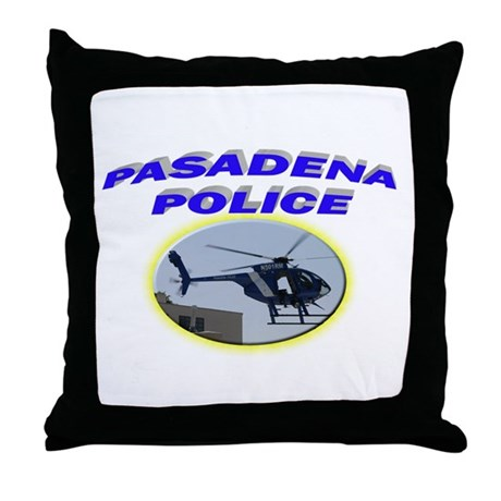Pasadena Police Helicopter Throw Pillow