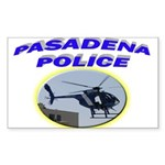 Pasadena Police Helicopter Sticker (Rectangle)