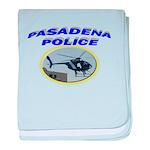 Pasadena Police Helicopter baby blanket