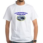 Pasadena Police Helicopter White T-Shirt