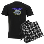 Pasadena Police Helicopter Men's Dark Pajamas