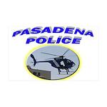 Pasadena Police Helicopter 38.5 x 24.5 Wall Peel