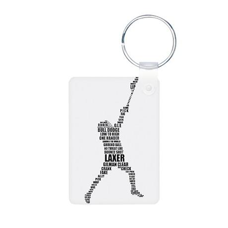 Lacrosse Lingo Aluminum Photo Keychain