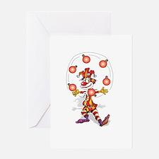 Juggling Joker Greeting Card