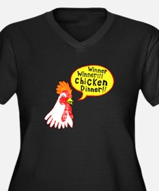 Winner Chicken Dinner Women's Plus Size V-Neck Dar