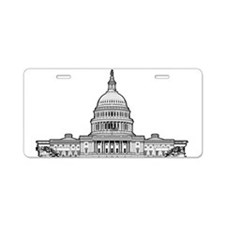U.S.Capitol Building Aluminum License Plate