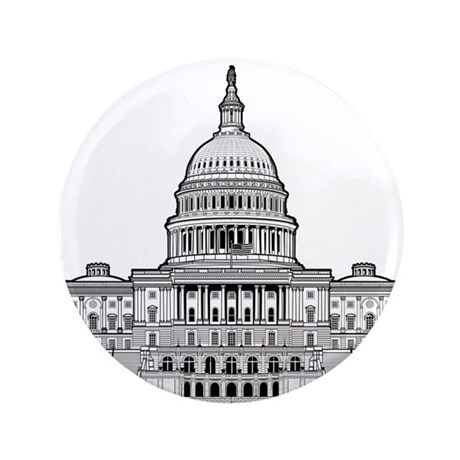 "U.S.Capitol Building 3.5"" Button (100 pack)"