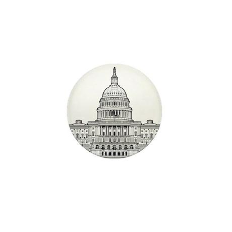 U.S.Capitol Building Mini Button (100 pack)