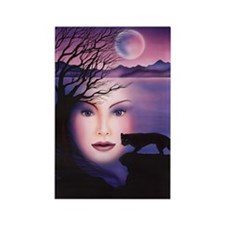Moon Shadow Rectangle Magnet