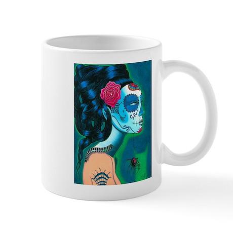 sugar_skull_blue_14 Mugs