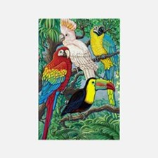 Tropical Birds Rectangle Magnet
